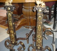 68-antique-iron-and-brass-andirons