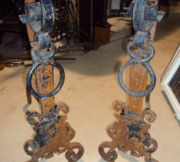 74-antique-gothic-iron-andirons