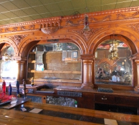 011A -sold -ANOTHER MATCHING ANTIQUE BAR IS AVAILABLE - #95 - 16 FT L X 9 FT H - NOT SET UP YET - STRIPPED