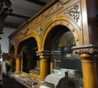 011-HOLD -Finest Carved Triple Arched Back Bar in the USA! - 16 ft. 9'' L - Another stripped #95 - 16 ft. L