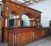 07B...sold..1  OF THE  FINEST ANTIQUE BRUNSWICK BACK & FRONT BAR 19 FT L X 10 10...OWNED BY JOHN WAYNE