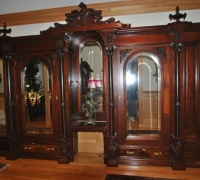 07C.sold..GREAT CARVED ANTIQUE BAR/ENTERTAINMENT CENTER/BOOKCASE ETC...14' 9