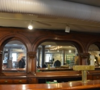 20A..SOLD..RARE TRIPLE ARCH 16 FT 4 IN. L X 9 FT 3 IN H PLUS 29 FT. L FRONT BAR...TOP 6 IN. CROWN NOT PICTURED...SEE PICS 1030 PLUS