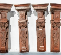21B...ANTIQUE CARVED BACK BAR COLUMNS....60 H X 21 W X 16 D....CAN BE USED ON ANY ANTIQUE BACK BAR