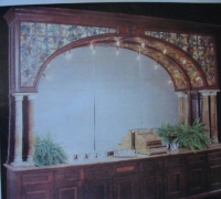 13-h-rare-1-of-a-kind-tiffany ?  -mahogany-antique-stained-glass-back-bar-14-4-long-x-10-4 - see pictures # 63a - #63 b
