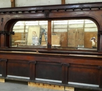 17A...ANTIQUE BACK & FRONT BAR 16' 2...NOW BEING FILMED FOR A HOLLYWOOD MOVIE....SEE 1244 TO 1253, 1262 TO 1268, 1270 TO 1273