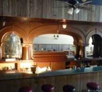 59 D - Great Massive Columns - 21 ft. long mahogany back bar