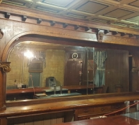 20....SOLD..16 FT 6 IN L BACK BAR AND 20 FT FRONT BAR W/MARBLE TOP...SEE 1128 TO 1131