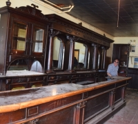 19 - Rare! - Complete! - Intact Barroom - 20 ft. long back bar - with 27 ft long x 7 ft. deep front bar X 8 ft. 6 in. h - All original - circa 1880