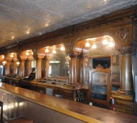 05-HOLD -36 FEET LONG!!!!! - THE LONGEST AND FINEST CARVED ANTIQUE BRUNSWICK BACK BAR IN THE USA!!! -Rare 1 of a kind with 6 columns!!! See # 521 to 548 & 509a to #548 - 36 FT. L !! X 10 FT H