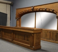 10 - Antique Matching Front and Back Bar -GREAT HUGE COLUMNS - SEE MORE PICTURES # 472 TO #477M - 20 FT. L X 9 FT. 9 IN. H -