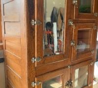 22D....X LARGE OAK ICE BOX 48 W X 80 H VX 29 D MINNT COND. C. 1880