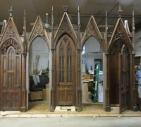 36...SOLD...THE FINEST ANTIQUE CARVED BACK BACK...16 FT W X 12 FT H...SEE 915 TO 931 FOR ADDITIONAL PHOTOS