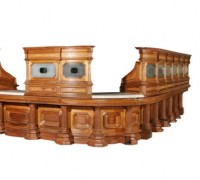 46 -The Finest Antique Front Bar In The USA - 31 ft. long- former bank counter-  see photos #396 to #400 - TOP CAN BECOME A MATCHING BACK BAR