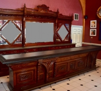 02....CHERRY ANTIQUE BACK AND FRONT BAR...14 FT 7 IN L X 119 IN H...C. 1880...SEE 1748 TO 1752