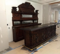 16....sold...AFTER...20 MORE SIMILIAR 5 TO 10 FT. LONG ANTIQUE BARS AVAILABLE
