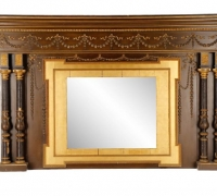 1582...109 INCHES WIDE X 66 INCHES HIGH OVERMANTLE MIRROR