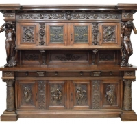 15...GREAT CARVED ANTIQUE BACK AND FRONT BAR TOP CAN BE BACK BAR TOP, BASE BECOMES A FRONT BAR AS #14A...SEE 1640 TO 1643