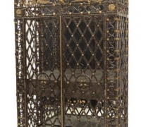 69A...IRON WINE CABINET...91 H X 51.5 W X 24.4 D....SEE 1740 TO 1743
