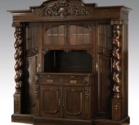 01- 98''H X 96''W X 30'' D UNIQUE ANTIQUE BAR W/COLUMN DOORS THAT OPEN C 1880...SEE 1367 TO 1369