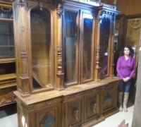 67 - Antique back bar - bookcase - 95'' l x 108'' h - more pictures #987 to #993