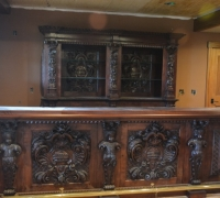 14 a - AFTER SOLD- 30 MORE similar antique carved cabinets - Base is moved  forward and becomes the front bar - see # 1216 to 1228