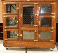 20..THE FINEST ANTIQUE BAR/ ICE BOX 76 H X 88 W X 31 D....SEE 1735 TO 1739 C. 1880...8 SMALLER