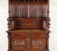 52...FRENCH RENAISSANCE REVIVAL MARBLE TOP SIDEBOARD...89