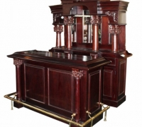 34...MAHOGANY FRONT & BACK BAR 88 H X 72 W