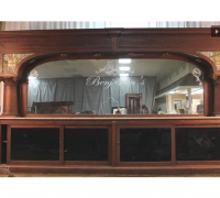 57...sold *-Great Antique Back Bar * 14' 7'' long x 8 ' 6'' h * see more pictures #1040 to 1043