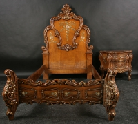 114-antique-carved-bed-with-end-table