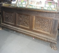 12A...GREAT 67 W X 26 D X 28 H CARVED CHEST...C. 1880