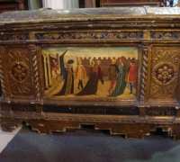 08-RARE C. 1500 GIOTTA DOWRY CHEST...46 W X 27 H X 20 D...SEE 27 TO 32