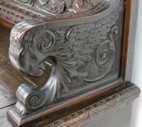 137 -sold - Carved   walnut   bench