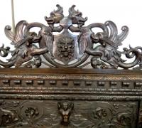 138 -sold - Carved  walnut   bench
