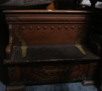 61-antique-carved-bench-with-brass-strap-hinges