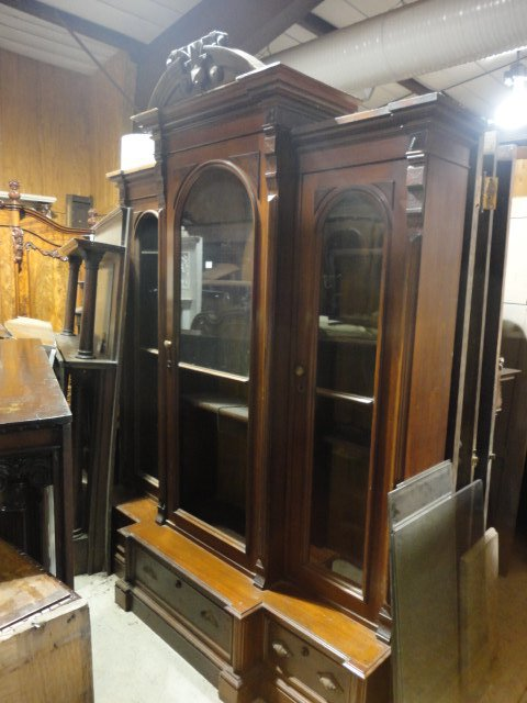 Antique Wooden Bookcase Amp Carved China Cabinet In Pa