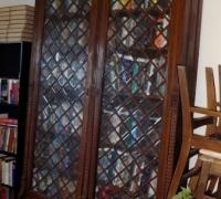 21 - OAK- C.1880 - each piece of glass is beveled