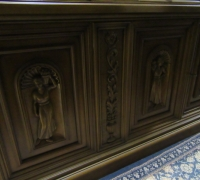 118-GREAT X - LG CARVED BOOKCASE --105'' H X 10' 4 '' W