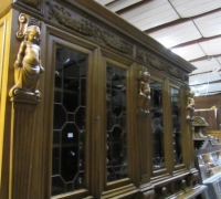 121-GREAT X - LG CARVED BOOKCASE --105'' H X 10' 4 '' W