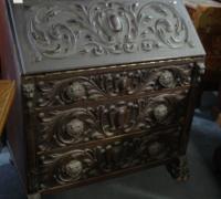 04-antique-slant-front-carved-desk