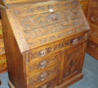 267-antique-slant-front-carved-desk