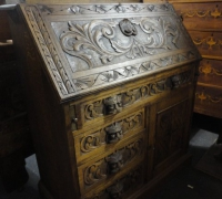55-antique-carved-slant-top-desk