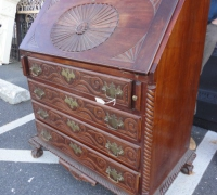 56-antique-carved-slant-top-desk