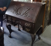 79-antique-carved-slant-top-desk