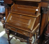 83-antique-carved-slant-top-desk