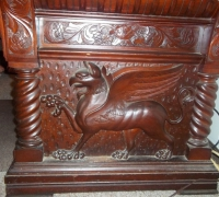 87-sold-antique-griffin-carved-desk