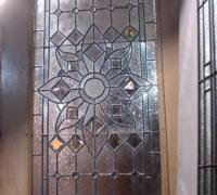 152-sold - antique-beveled-glass-door