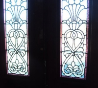 204-sold -antique-leaded-glass-doors