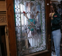 24 -  sold - antique-stained-glass-door